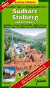 Südharz, Stolberg und Umgebung 1 : 35 000. Radwander-und Wanderk