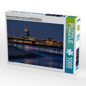 Oberkasseler Brücke, Tonhalle und ERGO-Hochhaus 1000 Teile Puzzl