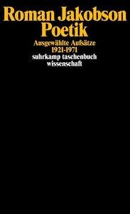 Poetik: Ausgewählte Aufsätze 1921-1971