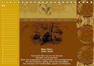 Indianisches Horoskop / Geburtstagskalender (Tischkalender immer
