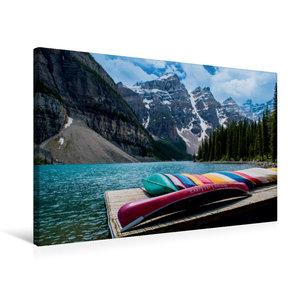Premium Textil-Leinwand 75 cm x 50 cm quer Moraine Lake