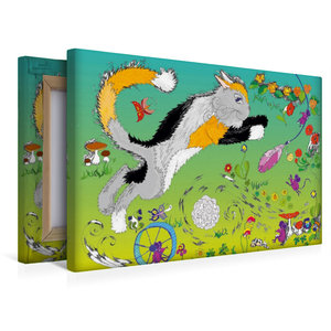 Premium Textil-Leinwand 45 cm x 30 cm quer Spielen