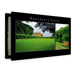 Premium Textil-Leinwand 90 cm x 60 cm quer Montacute House, Engl