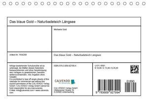 Das blaue Gold - Naturbadeteich LängseeAT-Version (Tischkalender