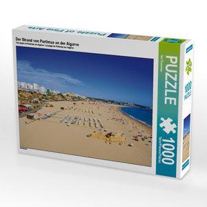 Der Strand von Portimao an der Algarve 1000 Teile Puzzle quer
