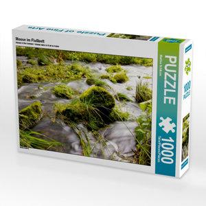 Moose im Flußbett 1000 Teile Puzzle quer