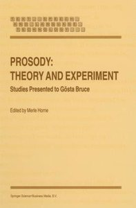 Prosody: Theory and Experiment