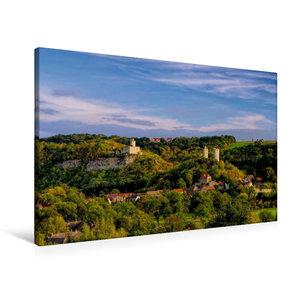 Premium Textil-Leinwand 90 cm x 60 cm quer Burg Saaleck und Rude