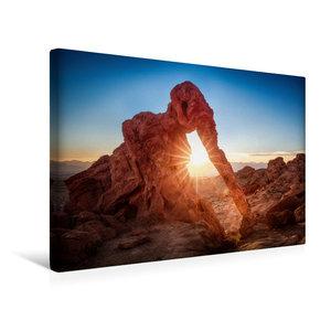 Premium Textil-Leinwand 45 cm x 30 cm quer elephant rock - valle
