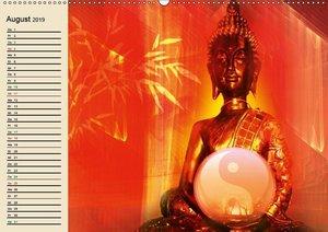 Buddha und Yin Yang (Wandkalender 2019 DIN A2 quer)