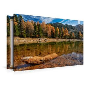 Premium Textil-Leinwand 120 cm x 80 cm quer Ziermtaler See