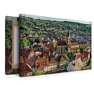 Premium Textil-Leinwand 45 cm x 30 cm quer Altstadt Esslingen am