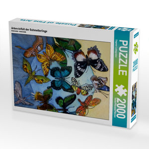 CALVENDO Puzzle Artenvielfalt der Schmetterlinge 2000 Teile Lege
