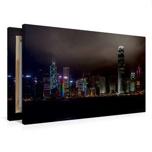 Premium Textil-Leinwand 75 cm x 50 cm quer Hong Kong Island
