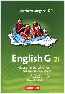 English G 21, Erweiterte Ausgabe D4: 8. Schuljahr. Klassenarbeit