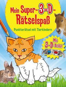 Punkterätsel mit Tierkindern