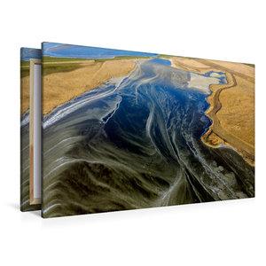 Premium Textil-Leinwand 120 cm x 80 cm quer Frostiger Hauke-Haie