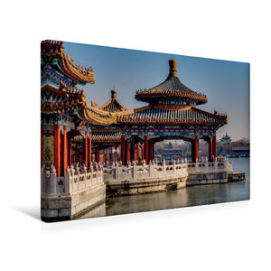 Premium Textil-Leinwand 45 cm x 30 cm quer Fünf Drachen Tempel i