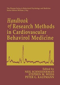 Handbook of Research Methods in Cardiovascular Behavioral Medici