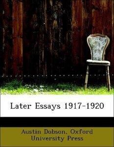 Later Essays 1917-1920