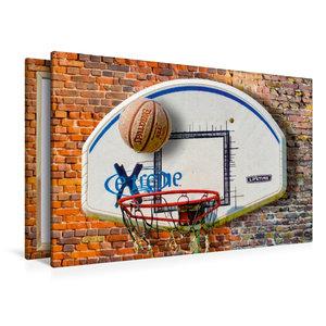 Premium Textil-Leinwand 120 cm x 80 cm quer Basketball - so cool