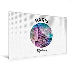 Premium Textil-Leinwand 120 cm x 80 cm quer Graphic-Art PARIS Ei