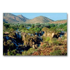 Premium Textil-Leinwand 90 cm x 60 cm quer Epupa Falls