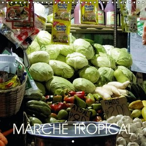 Marché tropical (Calendrier mural 2015 300 × 300 mm Square)