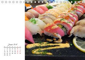 Sashimi und Sushi. Japans Köstlichkeiten (Tischkalender 2018 DIN