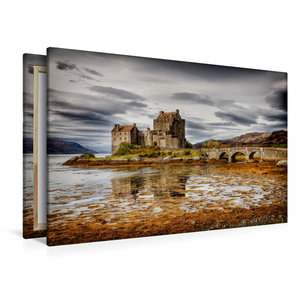 Premium Textil-Leinwand 120 cm x 80 cm quer Eilean Donan Castle