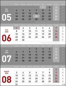 4-Monats-Planer Kalender 2020