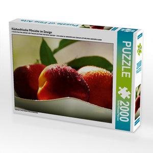 CALVENDO Puzzle Küchenfrische Pfirsiche im Design 2000 Teile Leg