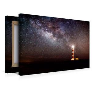 Premium Textil-Leinwand 45 cm x 30 cm quer Leuchtturm von Poris