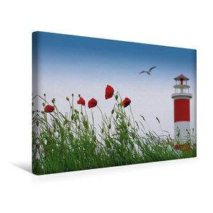 Premium Textil-Leinwand 45 cm x 30 cm quer Sommerfreude am Meer