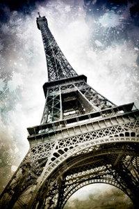 Premium Textil-Leinwand 80 cm x 120 cm hoch Modern-Art PARIS Ei
