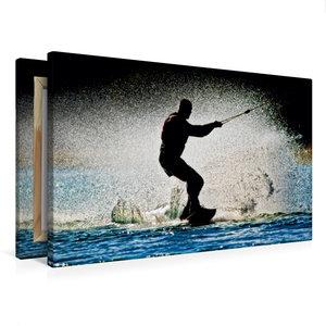 Premium Textil-Leinwand 75 cm x 50 cm quer Wakeboarden