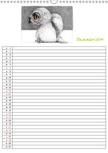 Tieronisch Eulen (Wandkalender 2019 DIN A3 hoch)
