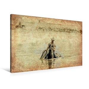 Premium Textil-Leinwand 90 cm x 60 cm quer Summertime