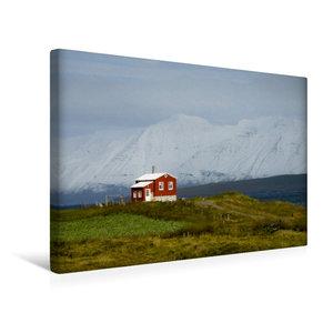 Premium Textil-Leinwand 45 cm x 30 cm quer Dalvíkurkirkjugarður
