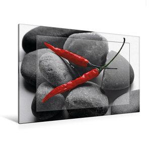 Premium Textil-Leinwand 120 cm x 80 cm quer Hot Chili