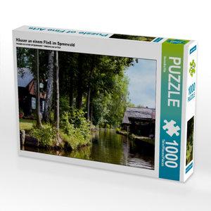 CALVENDO Puzzle Häuser an einem Fließ im Spreewald 1000 Teile Le