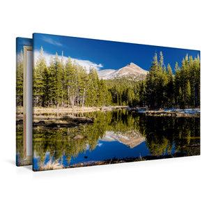 Premium Textil-Leinwand 120 cm x 80 cm quer Yosemite Nationalpar