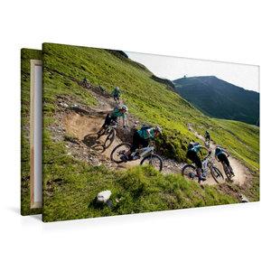 Premium Textil-Leinwand 120 cm x 80 cm quer Hinterglemm/Austria