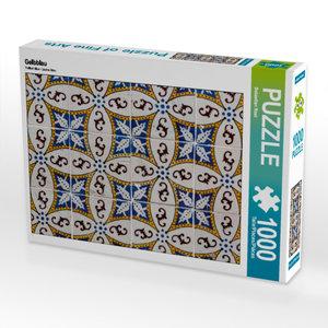 CALVENDO Puzzle Gelbblau 1000 Teile Lege-Größe 64 x 48 cm Foto-P