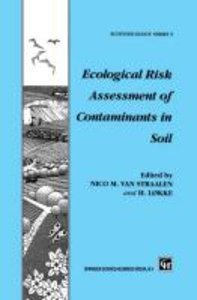 Ecological Risk Assessment of Contaminants in Soil