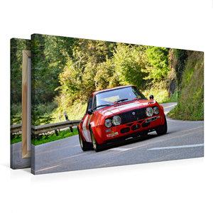 Premium Textil-Leinwand 75 cm x 50 cm quer Lancia Fulvia Zagato