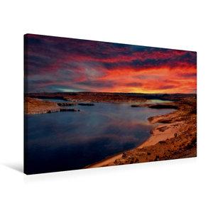 Premium Textil-Leinwand 75 cm x 50 cm quer Lake Powell