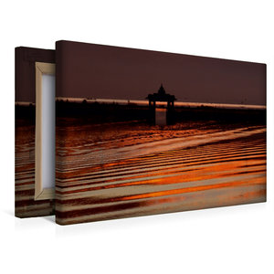 Premium Textil-Leinwand 45 cm x 30 cm quer Morgenstimmung