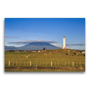 Premium Textil-Leinwand 75 cm x 50 cm quer Cape Egmont Lighthous