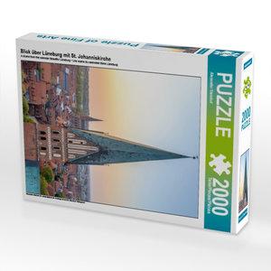Blick über Lüneburg mit St. Johanniskirche 2000 Teile Puzzle hoc